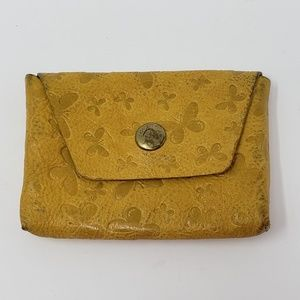 Fossil Yellow Leather Card Holder